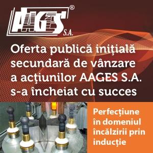 AAGES S.A. a încheiat cu succes Oferta Publică Iniţială în vederea listării la Bursa de Valori Bucureşti